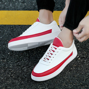 Image 5 - Mens Sneakers Spring White Sneakers Platform Shoes For Men Casual Shoes Black Leather Sneakers Comfortable Walking Shoes 2020