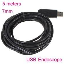 7 ММ 5 М мини usb эндоскоп endoscoop Камеры 6 СВЕТОДИОДНЫЕ Подводные Бороскоп Промышленной Инспекции камеры Микро-камеры Windows PC