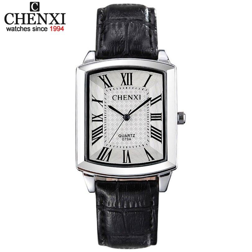 Paar Frau & männer Casual Uhren Luxusmarke Quadratischen Zifferblatt Mode Lederband Liebhaber Kleid Quarzuhr Relogios Femininos