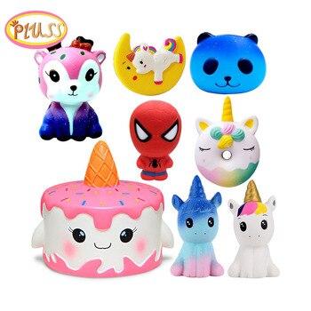 Kuchen Squishy super hero Spiderman Deer Squishies Spielzeug Squeeze Squishi Spielzeug Squishie Langsam Rising Stress Relief spielzeug Kinder