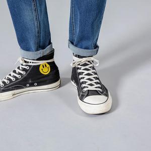 Image 5 - SIMWOOD 2020 spring winter new fashion letter print ankle length jeans men streetwear ripped hole hip hop denim pants 190202