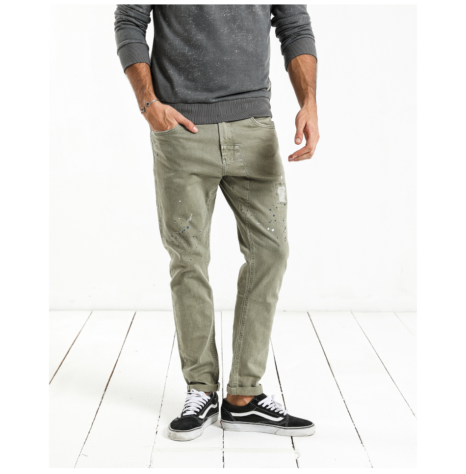 HTB1X3YthsnI8KJjSsziq6z8QpXa6 - SIMWOOD Fashion Paint Splat 2019 Vintage Men Jeans Casual Hole Zipper Denim Pants Man Trousers Plus Size Free Shipping NC017053