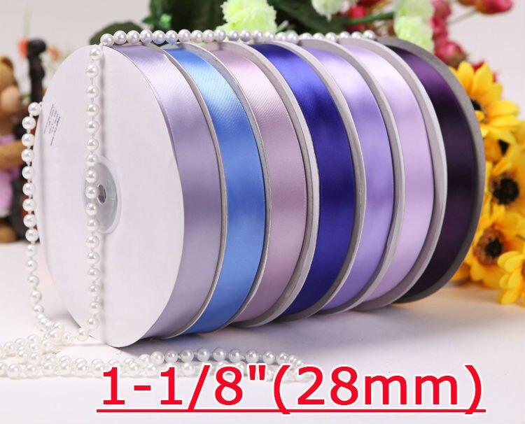 """[IuBuFiGo] 1-1/""""(28 мм) одинарная атласная упаковочная лента 100 ярдов/рулон"""