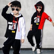 2018 otoño muchachos grandes ropa hip hop estilo Kids hoodies + Pantalones  Haren vetement garcon danza Streetwear 4 6 8 10 12 14. 3e2594a5cc7