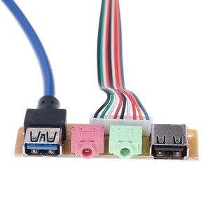 Image 3 - Cabo usb 2.0 + 3.0 do chassi da porta do computador 70cm, painel frontal de áudio para substituição 1 peça