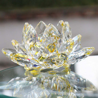 Free Shipping DHL FEDEX UPS 105mm K9 Crystal Lotus Car Decoration Crystal Gifts Crafts Christmas Gifts
