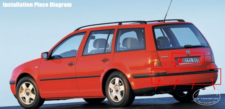 Volkswagen-Golf4-BIBI Alarm Parking System