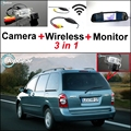 3 in1 Special Camera + Wireless Receiver + Mirror Monitor Back Up Parking System For Mazda MPV 2000~2006