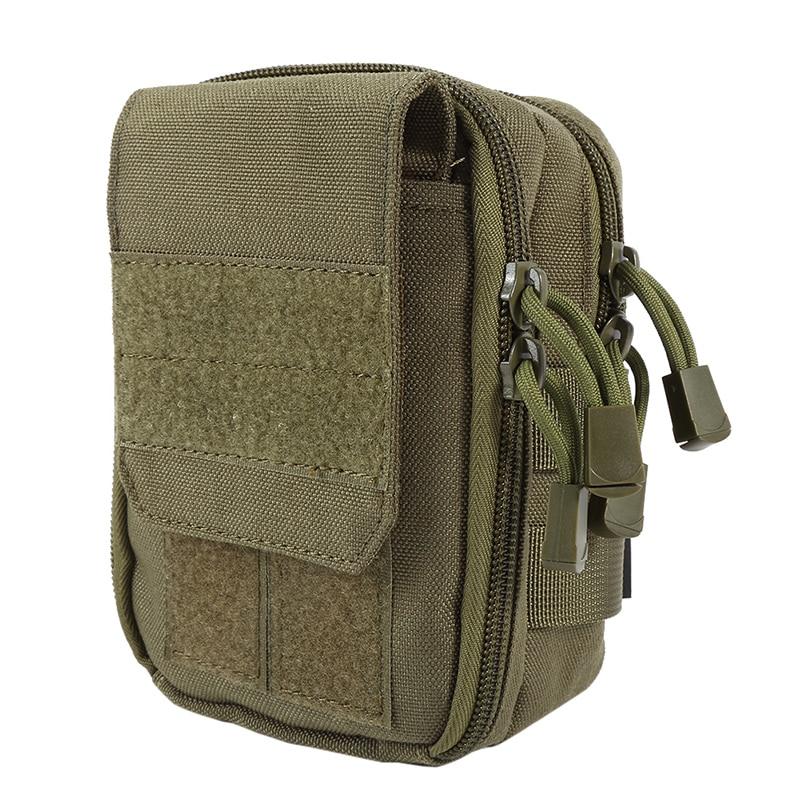 600D Nylon Waterproof Military Molle Sport Bag Utility Travel Waist Bag Sling Shoulder Bag Hiking Outdoor Pouch