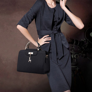 Image 5 - Mode Handtasche 2020 Neue Frauen Leder Tasche Große Kapazität Schulter Taschen Casual Tote Einfache Top griff Hand Taschen Deer decor