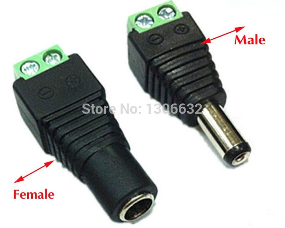 10x 2.5 mm montage châssis connecteur dc power socket