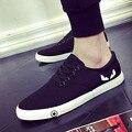 Новые Мужские Обувь Повседневная Низкие Холст Обувь Мода Лето Мужская Обувь Эспадрильи Белый Черный мужская Плоские Туфли Zapatos Hombre 39-44