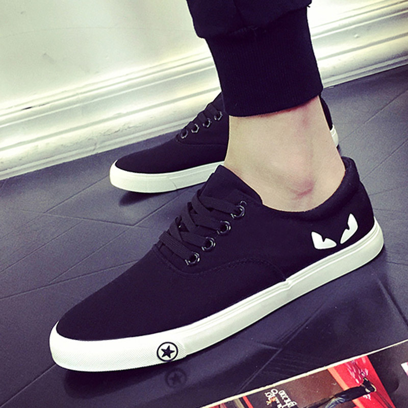 New Mens Shoes Casual Low Canvas Shoes Fashion Summer Men Shoes Espadrilles White Black Men's Flat Shoes Zapatos Hombre 39-44 flat laced letter nice men s sports shoes fashion casual shoes black and white shoelace 120cm