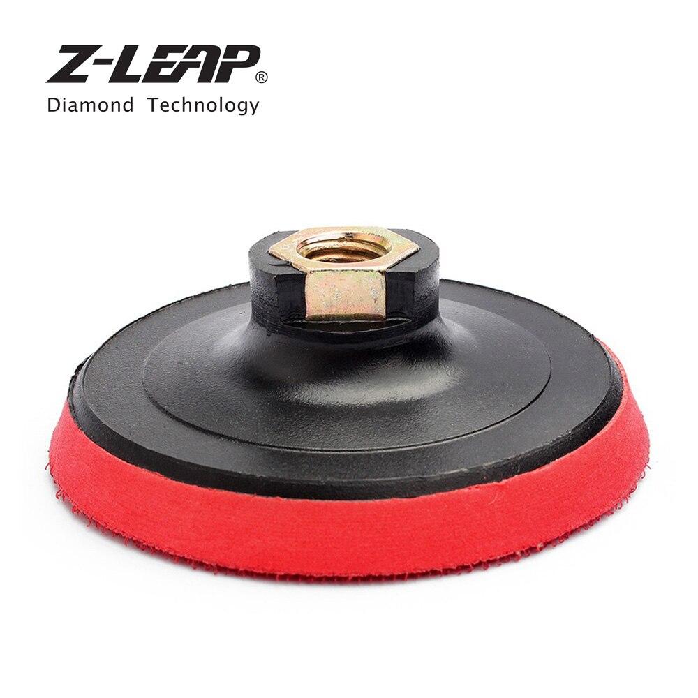 Z-LEAP 2 Pieces 4 Inch Polishing Backing Pads Plastic Foam Car Polishing Burnishing Grinders Backer Plate Buffing Holder
