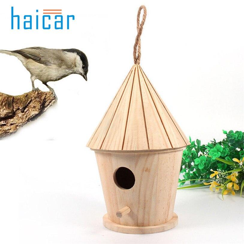 Wooden garden Bird Cages Nests bird house 4