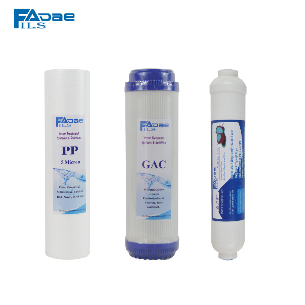 3-Stage Water Purifier Replacement Filter Set - PP Sediment Filter 5 micron/Granular Activated Carbon/Post Coconut carbon Filter sephora vintage filter палетка теней vintage filter палетка теней