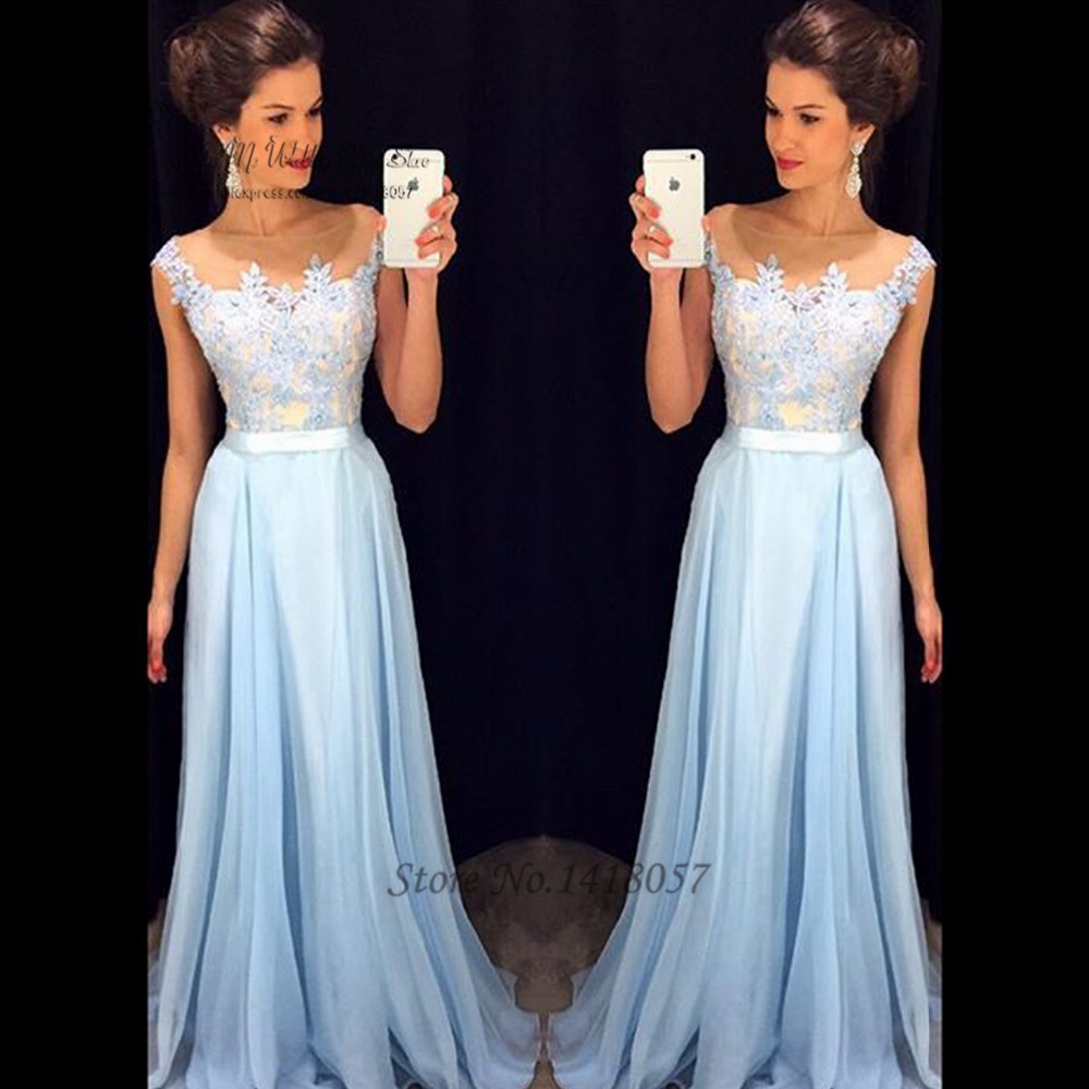 New Fashion Real Elegant Long Sleeve Evening Dresses Lace Special Occasion Dress Belt Pearls Women Prom Gowns 2015 Vestido Longo Para Festa Latest Technology Weddings & Events