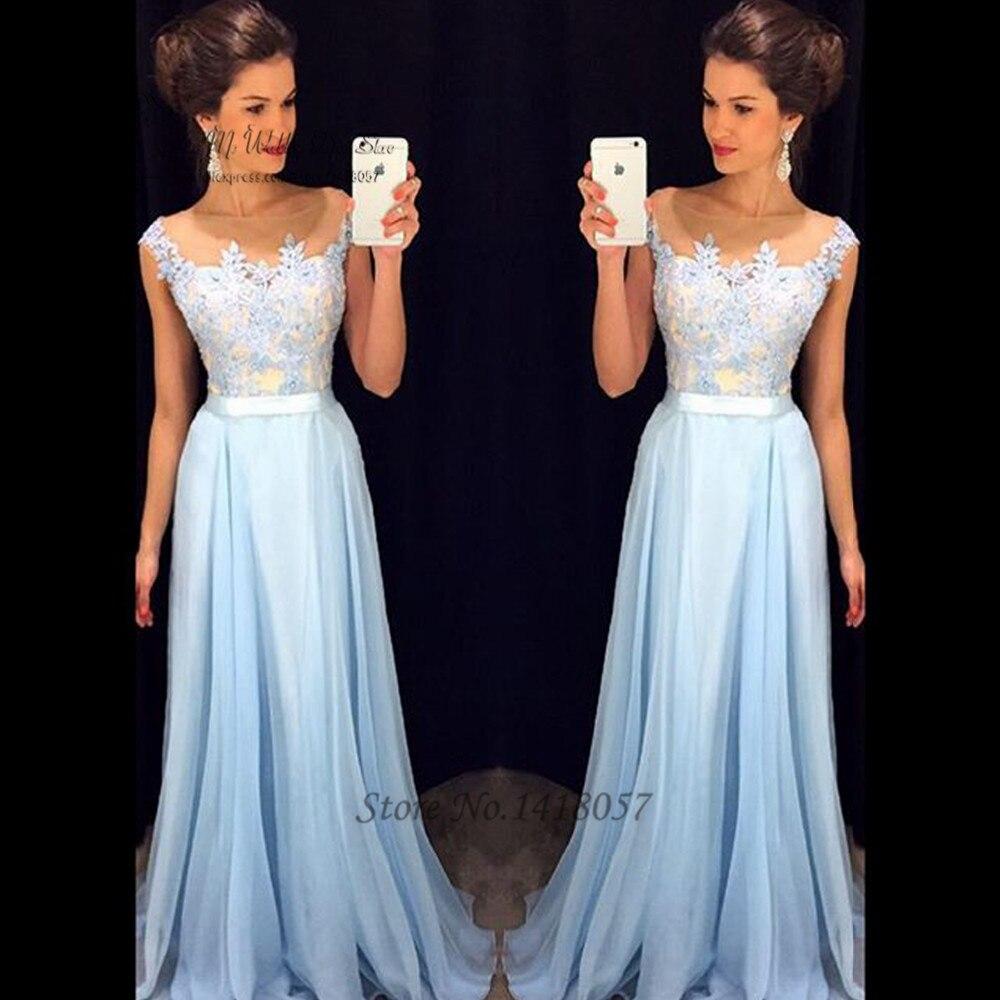Vestidos de Festa Vestido Longo Para Casamento Cheap Blue Sky   Prom     Dresses   Long Lace Evening   Dress   for Graduation Formatura