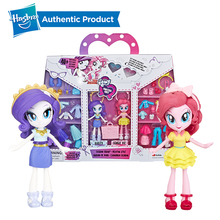 Hasbro 4-Inch My Little Pony Equestria Girls Fashion Squad Rarity and Pinkie Pie Mini Doll Set with 40+ Accessories 2018 my little pony toys the movie dj pon 3 big mcintosh rainbow dash pinkie pie rarity pvc action figure collectible model doll