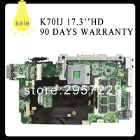 High Quality K70IJ Laptop Motherboard 60 NWLMB1000 B05 69N0FFM10B04 USB2 0 GL40 Chipset Fully Tested Working