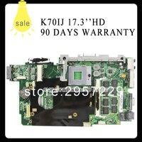 High Quality K70IJ Laptop Motherboard 60 NWLMB1000 B05 69N0FFM10B04 USB2 0 GL40 Chipset Fully Tested Working