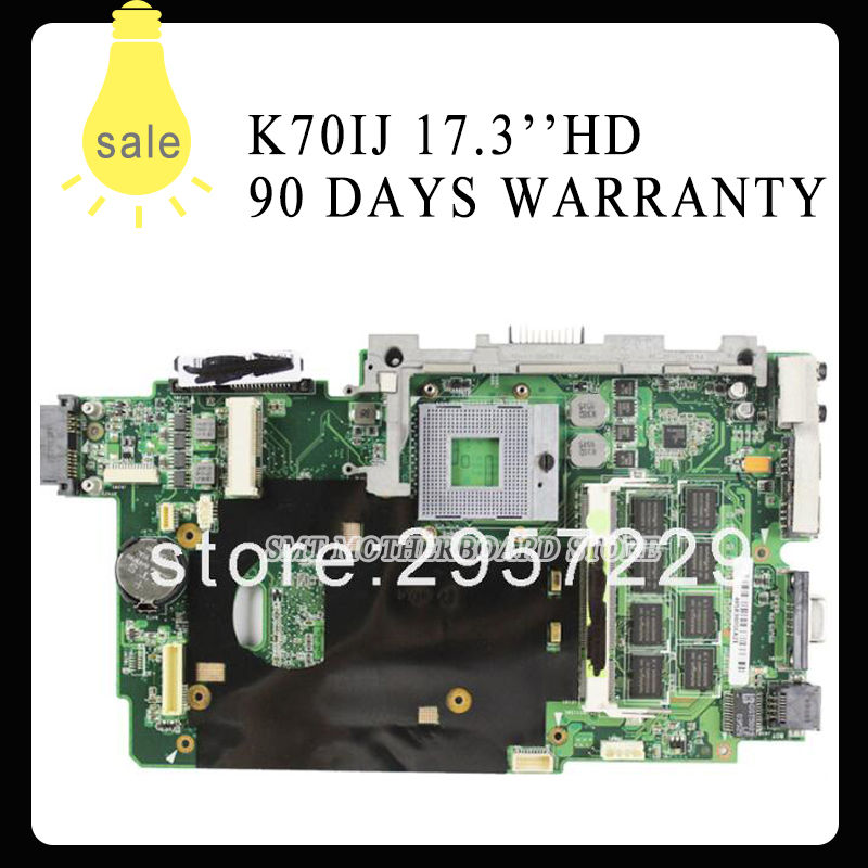 high quality K70IJ Laptop Motherboard 60-NWLMB1000-B05 69N0FFM10B04 USB2.0 GL40 Chipset fully tested & working perfect high quality iss g200 1 pb niagara2250 60 pci sales all kinds of motherboard