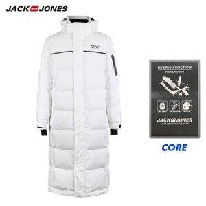 Image 5 - JackJones Mens Winter Long Hooded Duck Down Jacket Parka Coat Fashion Outerwear for Menswear 218312516