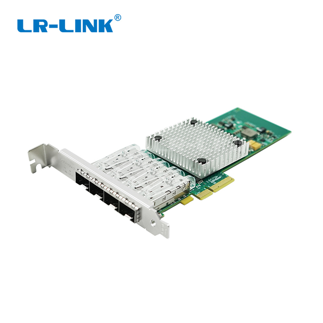 Двухсторонний адаптер сети Ethernet Gigabit, четырехпортовый PCI Express, оптоволоконная Lan карта, совместимая с Intel стандарта