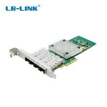 LR LINK 9714HF 4SFP Gigabit Ethernet adapter sieci quad portu PCI Express z włókna światłowodowe karta LAN kompatybilny Intel I350 F4 Nic