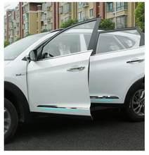 Aço inoxidável Porta Do Carro Exterior Tiras Etiqueta 4 pçs/set para Hyundai Tucson 2015 2016 remontagem