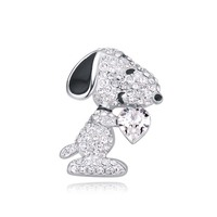 Brooch For Wedding Heart Crystal Cute Dog Brooch Made With Swarovski Elements Animal Jewelry Women Brooches