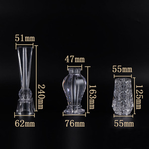 Image 2 - 4 Piece Acrylic Crystal cabinet Glass Tea TV Cabinet Feet Coffee Table Support Legs Furniture feet