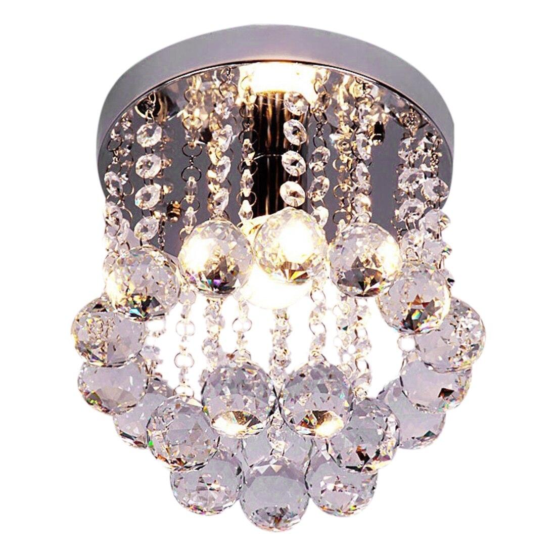 Retro Luxury Flush Mount Crystal Pendant Light HQ