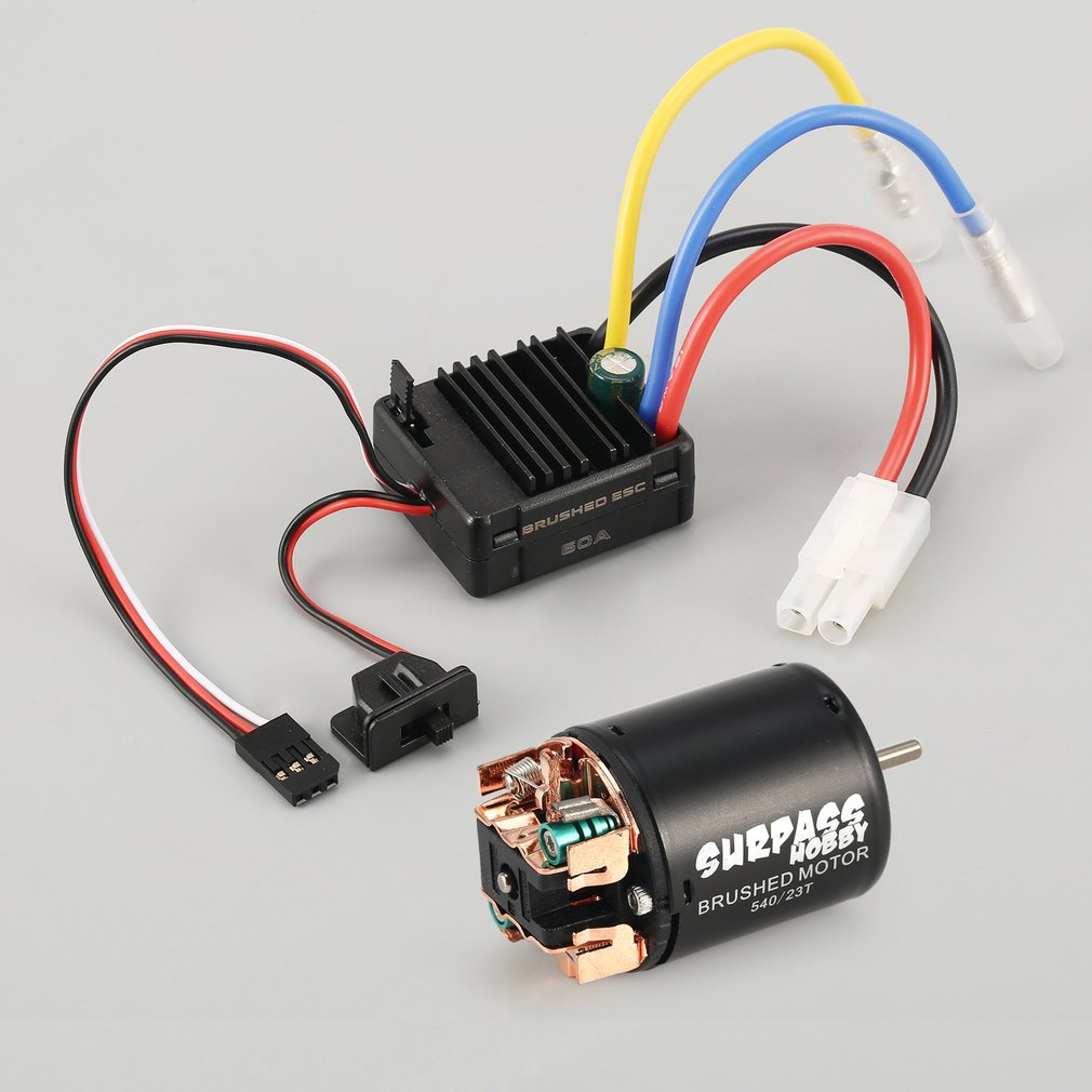 Surpass Hobby RC 540 13T 17T 21T 23T 27T 35T 45T 55T 80T Brushed Motor For RC Car 1/10 Rock Crawler 4WD Vehicle RCCar Part Motor