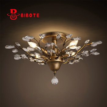 Modern LED Crystal Ceiling Lights Fixtures With led bulbs for Bedroom Study Living Room lampara techo avize lustre free shipping