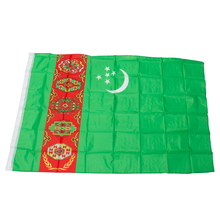 free  shipping  xvggdg  New 90x150cm Large Turkmenistan   Flag Polyester the  Turkmenistan  National Banner Home Decor afc asian cup 2019 japan turkmenistan