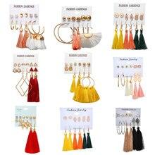 LETAPI Vintage Geometric Tassel Earrings For Women Gold Color Leaf Heart Flower Statement Earring Brincos Jewelry цена в Москве и Питере