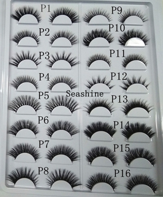 37d830a8859 3D Mink Lashes P1-P16 styles sample card Top Mink 3D Strip Lashes 16  pairs/lot Handmade Eye Lashes False Lashes avaliable