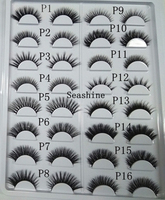 3D Mink Lashes P1 P16 styles sample card Top Mink 3D Strip Lashes 16 pairs/lot Handmade Eye Lashes False Lashes avaliable