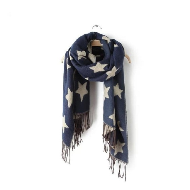 Stars Reversible Wool Scarf | Shawls and Wraps