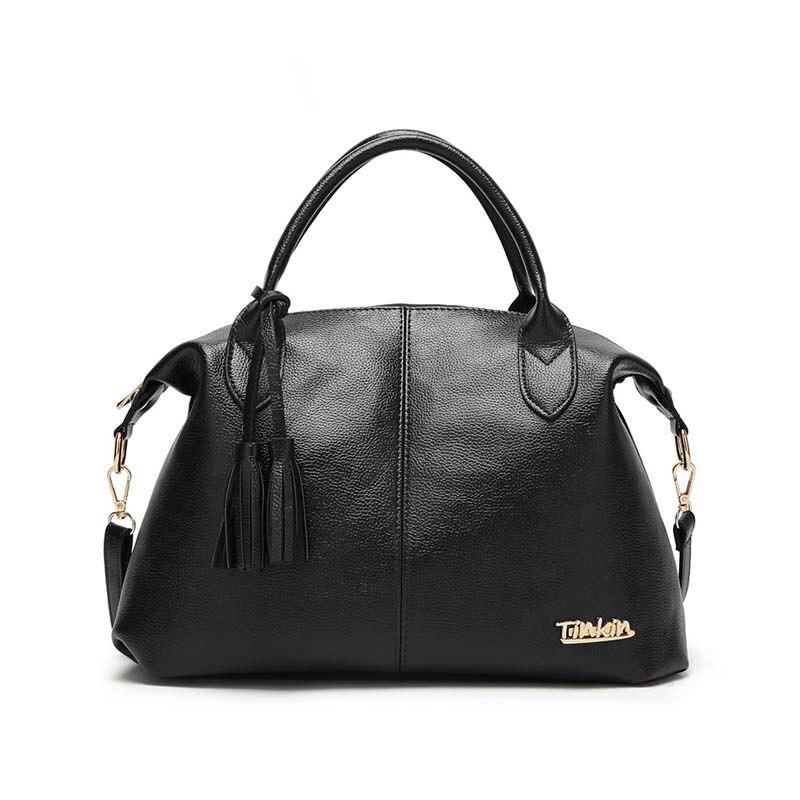 Tinkin High Capacity Soft Casual PU Leather Female Handbag Fashion Women Shoulder Bags Daily Women Tote All Match Messenger Bag 1