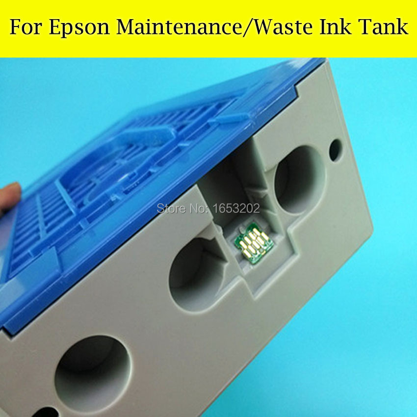 1 Pieces Maintenance Tank Box For EPSON Surecolor T3070 T5070 T7070 T5080 T3080 Printer Waste ink Tank best price stable maintenance ink tank for epson surecolor t3070 t5070 t7070 printer waste ink tank