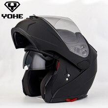 YOHE Helmet Sticker Flip Up Motorcycle Helmet Motocicleta Casco Helmets Motocross racing Helmet Ece YOHE-OF-958
