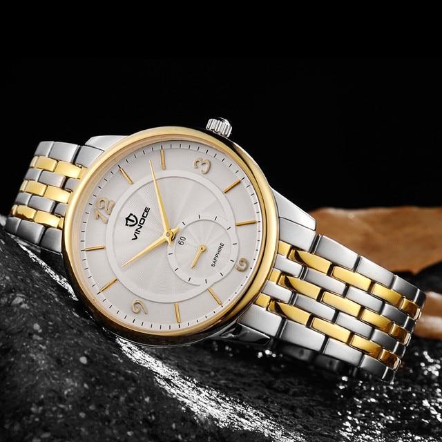 TOP Fashion Quartz Watch Vinoce Men's women Designer Quartz Watch Male Waterproof Wristwatch Relogio Masculino