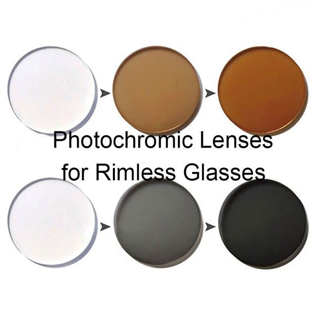 Супер Цепкие Фотохромные Единое Видение Оптических Линз для Очки Без Оправы AR Покрытие Быстро Менять Цвет