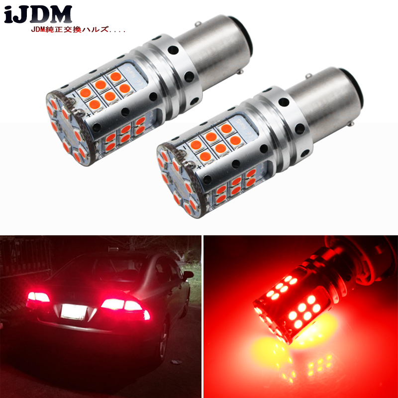 iJDM Car LED Stop Lights Canbus 1157 P21/5W BAY15d BAZ15D 3030 32SMD Car Brake Reverse Lamps Rear Fog Parking Bulbs 12V No Error