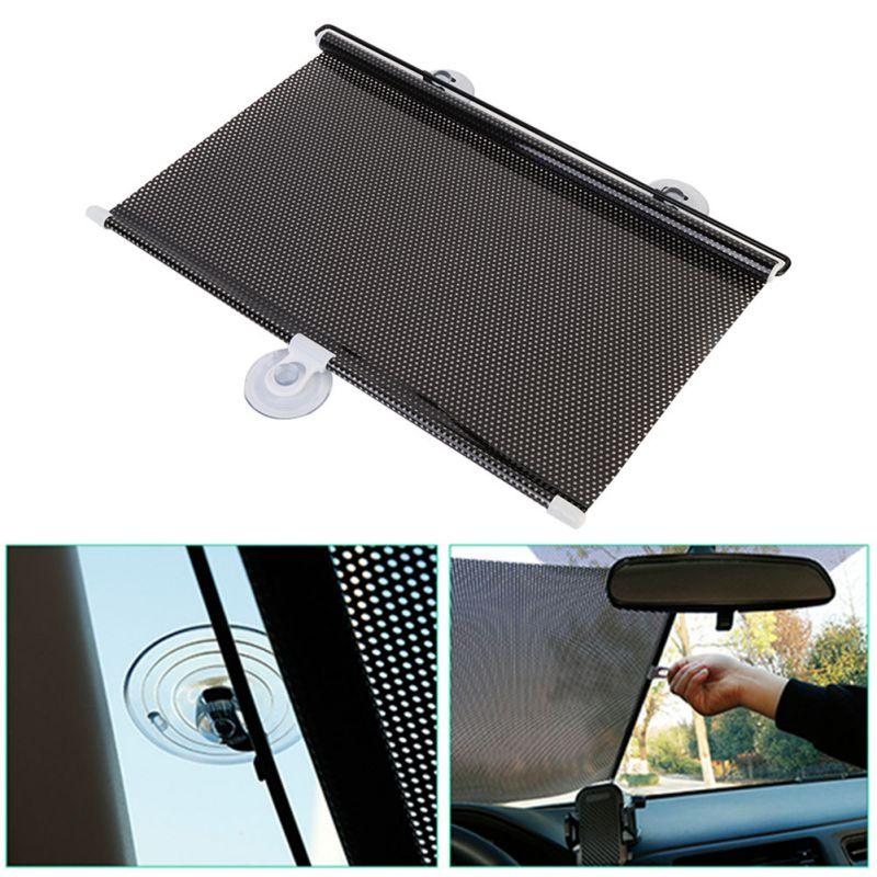 Neue 58*125 cm Versenkbare Anti UV Auto Windschutzscheibe Visor Sonnenschutz Auto Front Rear Side Fenster Jalousien Sonne shades