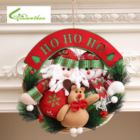 Christmas Wreaths Door Hanging Snowman Rattan Ring Garlands Xmas Decorations Christmas Decoration For Home Ornament Home