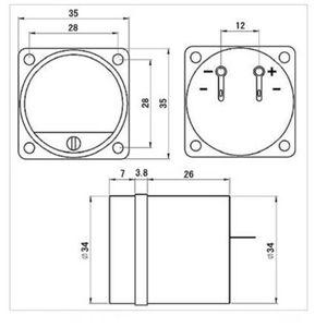 Image 4 - 1 x Panel VU miernik ciepłe tylne światło wskaźnik wzmacniacza mocy i poziom dźwięku Amp DB tabela dc 6v 12v płyta sterownicza
