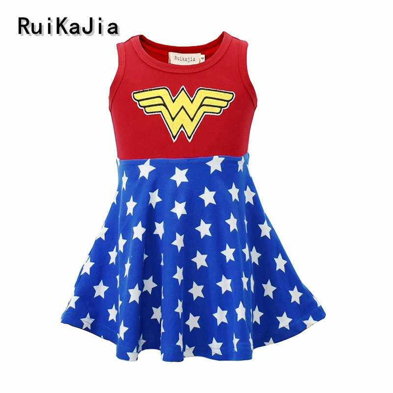 Superhero Heran Wanita Gadis Tutu Gaun Anak Cosplay Kostum Natal Halloween Dress Up Tutu Gaun Foto Bayi Juli 4th